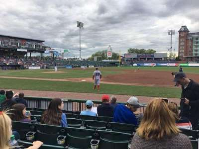 Northeast Delta Dental Stadium, secção: 114, fila: G, lugar: 9
