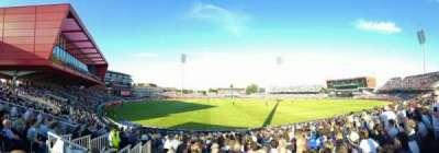 Old Trafford Cricket Ground, secção: Stand D, fila: 17, lugar: 140