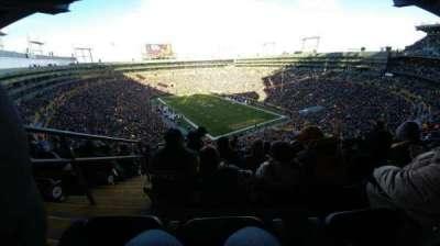 Lambeau Field, secção: 640s, fila: 10, lugar: 2