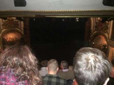 Palace Theatre (Broadway), secção: Rear Center Mez, fila: M, lugar: 124