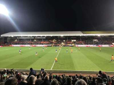 Pittodrie Stadium, secção: South Stand Area T, fila: T, lugar: 127