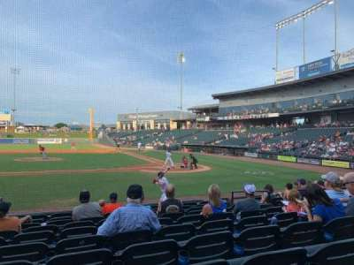 Dell Diamond, secção: 116, fila: 10, lugar: 15