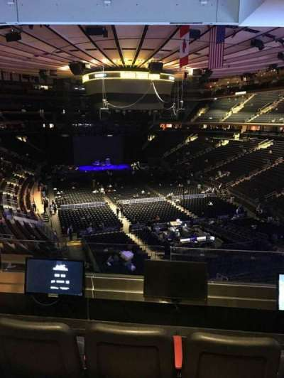 Madison Square Garden, secção: 203, fila: 3, lugar: 3