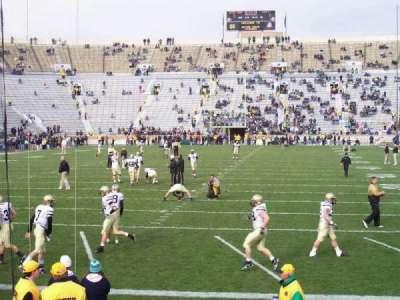 Notre Dame Stadium, secção: 18, fila: 13, lugar: 5