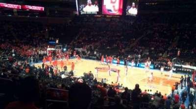 Madison Square Garden, secção: 119, fila: 20, lugar: 4