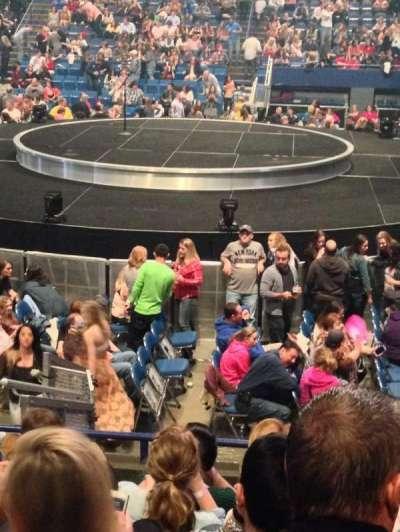 Rupp Arena, secção: 13, fila: F, lugar: 11