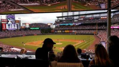 Coors Field secção Press Club 3