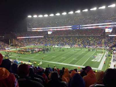 Gillette Stadium, secção: 227, fila: 21