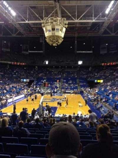 Rupp Arena, secção: 22, fila: VV, lugar: 6