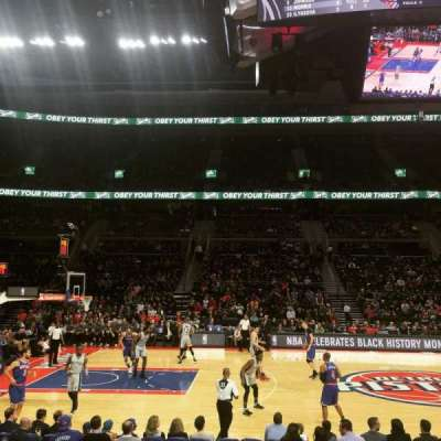 The Palace of Auburn Hills, secção: 101, fila: B, lugar: 9