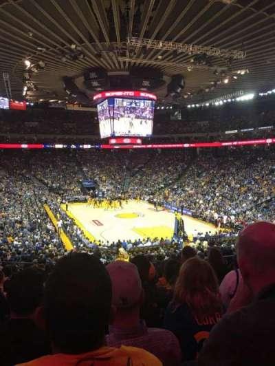 Oracle Arena, secção: 109, fila: 25, lugar: 8