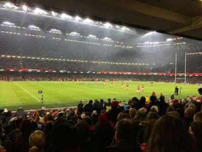 Principality Stadium, secção: L11, fila: 20, lugar: 6
