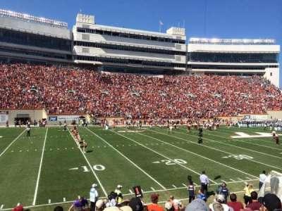 Lane Stadium, secção: 17, fila: W, lugar: 10