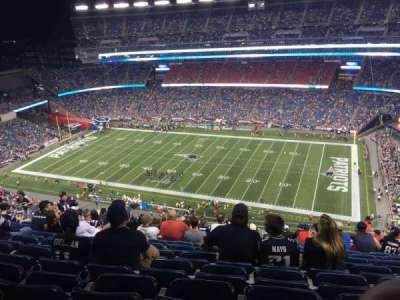 Gillette Stadium, secção: 328, fila: 22, lugar: 9