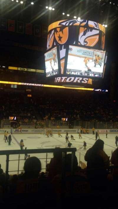 Bridgestone Arena, secção: 104, fila: J, lugar: 1