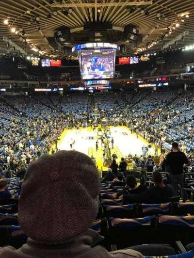 Oracle Arena, secção: 108, fila: 22, lugar: 4