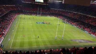 Principality Stadium, secção: U21, fila: 25, lugar: 6