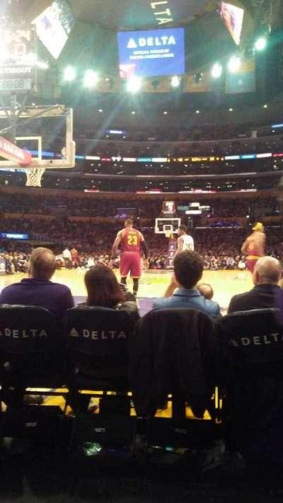 Staples Center, secção: 115, fila: B, lugar: 5