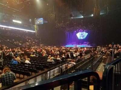 Bridgestone Arena, secção: 103, fila: FF, lugar: 4