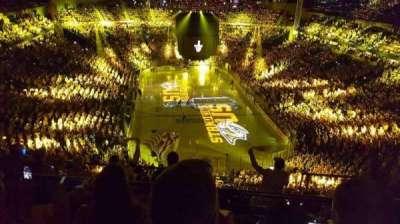 Bridgestone Arena, secção: 301, fila: H, lugar: 12