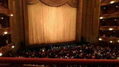 Metropolitan Opera House - Lincoln Center, secção: Grand Tier, fila: A, lugar: 7
