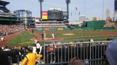PNC Park, secção: 114, fila: B, lugar: 12