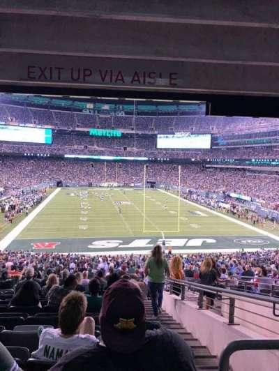 MetLife Stadium, secção: 103, fila: 26, lugar: 4