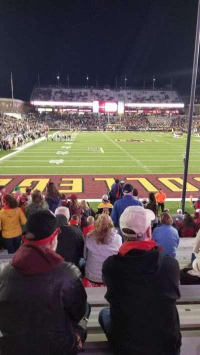 Alumni Stadium, secção: X, fila: 18, lugar: 28