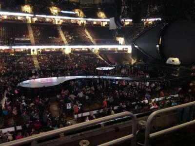 Quicken Loans Arena, secção: C108, fila: 18, lugar: 11