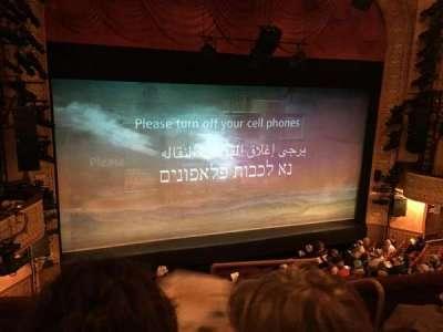 Ethel Barrymore Theatre secção Front Mezzanine L