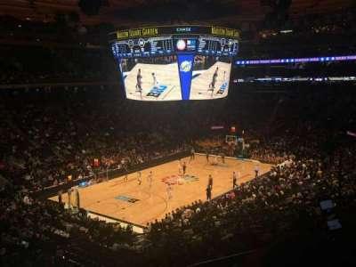 Madison Square Garden, secção: 207, fila: 2, lugar: 16