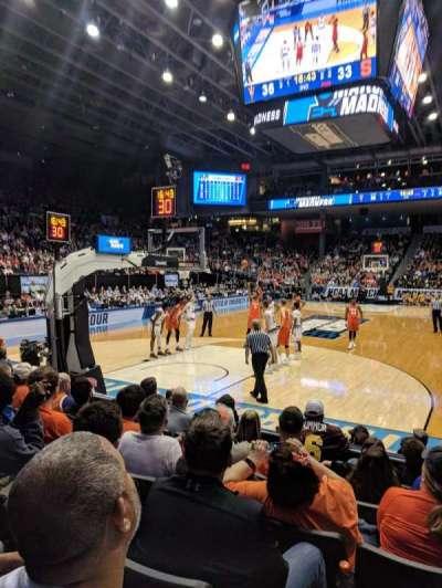 University of Dayton Arena, secção: 116, fila: G, lugar: 3