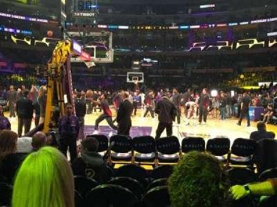 Staples Center, secção: 106, fila: G, lugar: 7