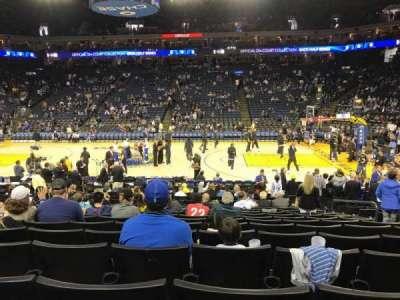 Oracle Arena, secção: 128, fila: 12, lugar: 6