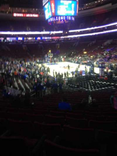 Wells Fargo Center secção 105