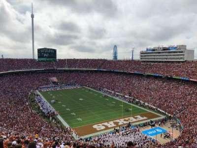 Cotton Bowl, secção: 120, fila: 32, lugar: 7