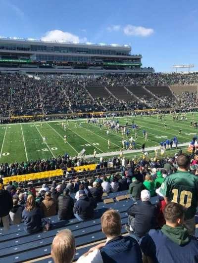 Notre Dame Stadium secção 12