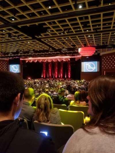 Borgata Event Center, secção: E, fila: Q, lugar: 5