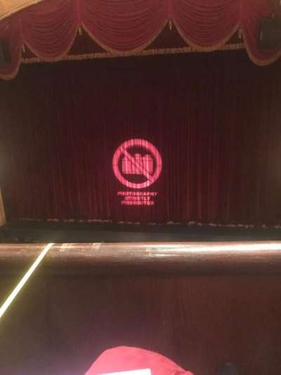 Detroit Opera House, secção: Trustee Circle 2, fila: AA, lugar: 210