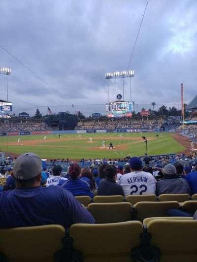 Dodger Stadium, secção: 3FD, fila: T, lugar: 9