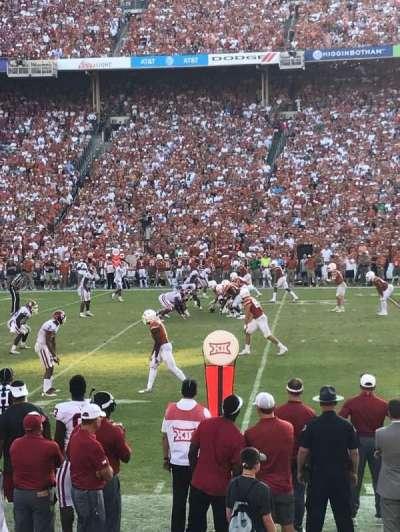Cotton Bowl, secção: 22, fila: 9