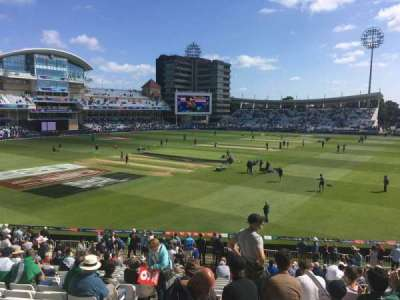 Trent Bridge, secção: Bridgeford Road Stand, fila: X, lugar: 67