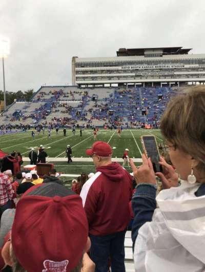 David Booth Kansas Memorial Stadium, secção: 22, fila: 12, lugar: 20