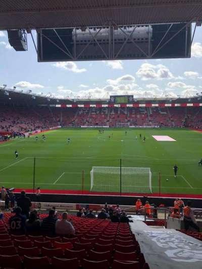 St Mary's Stadium, secção: 43, fila: CC, lugar: 1110