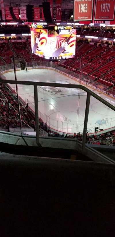 PNC Arena, secção: 335, fila: d, lugar: 14