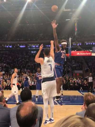 Madison Square Garden, secção: 6, fila: 1, lugar: 16