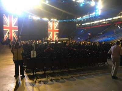 Manchester Arena, secção: 106, fila: A, lugar: 5