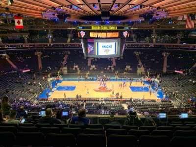 Madison Square Garden, secção: 211, fila: 8, lugar: 7
