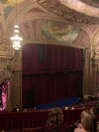 Chicago Theatre, secção: Balcony1L, fila: J, lugar: 111