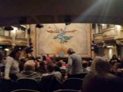 Wyndham's Theatre, secção: stalls, fila: P, lugar: 8